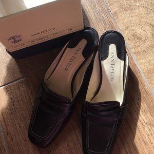 Ann Taylor brown mules size 6
